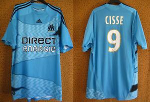 Maillot Olympique Marseille Cissé #9 Adidas Direct Energie 2009 OM Vintage - XL