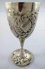 2 x Weinkelch versilbert Trinkbecher Weinbecher Wine Cup silver plated Weinglas