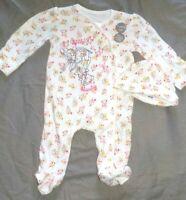pyjama bonnet  coton disney bambi et panpan taille 0-3 mois