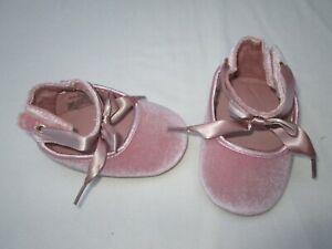 ❤ ALDO baby shoes pink velvet satin bow 3 FREESHIP
