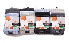 Mens boxer shorts underwear, cotton rich, three pack, button fly
