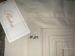 (#207) NEWE PRATESI ~3 LINE EMBROIDERY~IVORY&BEIGE ORG$225