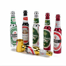 BEER BOTTLE SMOKE TOBACCO PIPE SMOKING METAL FREE DELIVERY WEED/ BIRTHDAY GIFT