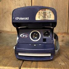 Polaroid 600 azul af (automático Flash) Cámara de película de películas instantáneas probado! lomo #2919