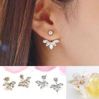 1Pair Women Fashion Jewelry Lady Elegant Crystal Rhinestone Ear Stud Earrings