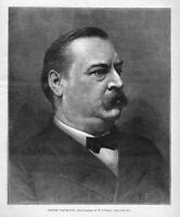 GROVER CLEVELAND PORTRAIT DEMOCRATIC PRESIDENTIAL NOMINATION POLITICS HISTORY