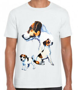 Unisex Adults Jack Russell Terrier Graphic Printed White Cotton T Shirt