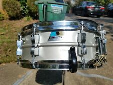 """*Ludwig Acrolite 1976 Snare Drum 5x14"""" with Case & Stand Aluminum Vintage  EXC"""