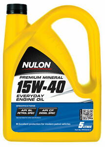 Nulon Premium Mineral Everyday Engine Oil 15W-40 5L PM15W40-5 fits Renault 10...