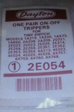 Dayton On-Off Trippers. Lot of 2 Pair. 2E054. New Sealed. Time Switch. Timer.