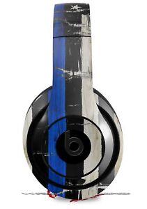 Skin FOR Beats Studio 2 3 Headphones Cracked Blue Line USA American Flag