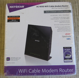 NETGEAR AC 1600 WiFi Cable Modem Router- Model C6250-Brand New