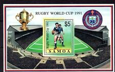 Samoa (4534) 1991 World Cup Rugby Championship sheet lightly mounted Sg Ms863