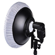"16"" Flash Beauty Dish Reflector Hot Shoe Mount For Canon Nikon Yongnuo Speedlite"
