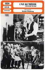 FICHE CINEMA : L'ILE AU TRESOR - Beery,Cooper,Fleming 1934 Treasure Island