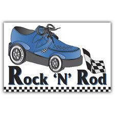 Rock & Rod / Rock And Roll-American Car Hotrod pegatina 100 Mm De Alto X 65 Mm Retro