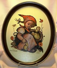 Hummel ARS Edition Chick Girl Metal Tin Tray Vtg 1983 Retro