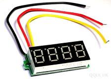 """DC 0-33V Red 0.36"""" LED 4 Digit Digital Voltmeter Voltage Panel Meter - UK seller"""