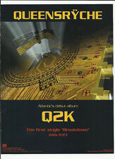 Queensryche Breakdown Trade Ad Poster of Q2K Cd 1999