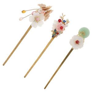 Vintage-style alloy Kanzashi hairpin Simple Japanese style tassel Hair ornament