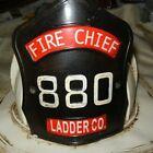 Antique Metal Fireman Chief Helmet 880 LADER CO