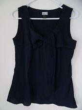 H&M Navy blue Gathered Tank Top Shirt Sz 4