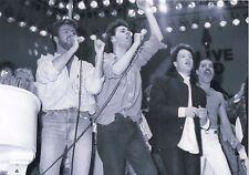 GEORGE MICHAEL FREDDIE MERCURY BONO PHOTO LIVE AID 1985 UNIQUE IMAGE UNRELEASED!