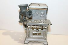 NICE VINTAGE ROYAL CAST IRON STOVE with CAST METAL GRINDER