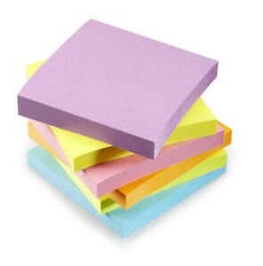 """3"""" x 3"""" Memo Pad with 40 Sticky Post It Notes 76x76mm"""