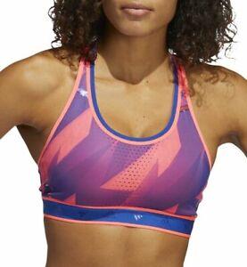 adidas Don't Rest AlphaSkin Graphic Womens Sports Bra - Pink - Size XS $70 RARE