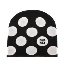 New Marc Jacobs MBMJ Black CHARLIE DOT Hat $78 NWT Merino Wool Polka Dot Beanie