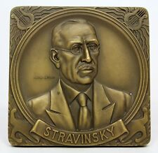 BRONZE MEDAL / PLAQUE / ART CLASSICAL MUSIC / STRAVINSKY / by Cabral Antunes