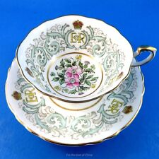 Handpainted Commemorative Coronation June 2 1953 Paragon Tea Cup and Saucer