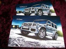 Mercedes-Benz G-Class Brochure 2014/2015 inc G63 AMG + Prices
