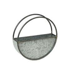 MND Brand New Round Galvanised Wall Planter Metal Material Vases plant decor use