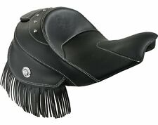 Indian Motorcycle® Genuine Leather Reduced Reach Heated Seat -Black - 2879578-02