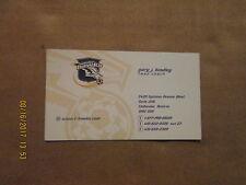 NPSL Toronto Thunder Hawks Vintage Defunct Circa 2000 Logo Soccer Business Card