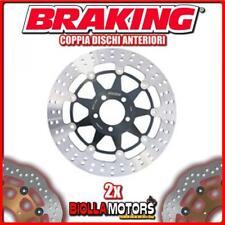 2-STX01 COPPIA DISCHI FRENO ANTERIORE DX + SX BRAKING DUCATI GT 1000cc 2006-2010