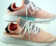 Adidas deerupt runner size 8 1/2 (half) peach/white