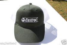 Ball Cap Hat - Castrol - Motor Oil Lubrication - Green White (H1355)