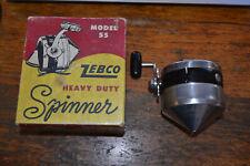 Vintage Zebco Heavy Duty Model 55 Spinning Reel In Box