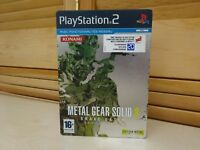 Jeu video Metal Gear Solid 3 edition originale playstation 2 boitier + manuel