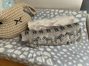 Aden And Anais Two Large Swaddle Muslins Safari Print