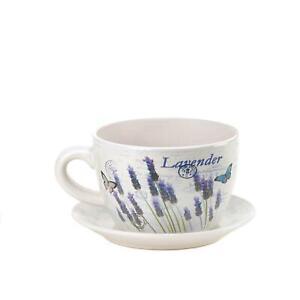 Lavender Fields Teacup Planter - NIB