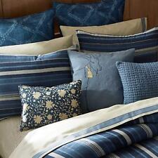 """Ellen Degeneres Azur Stripe Indigo Euro Pillow Sham Brand New in Package 26""""x26"""""""