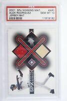 2001 SPx Winning Material Jersey/Bat Alex Rodriguez #AR1 PSA 10 Gem Mint Pop 13