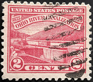 Stamp United States SG682 1929 2c Canalization of the Ohio River Used