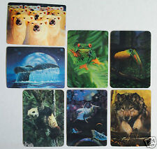 3-D ANIMAL CARDS Whale/Frog/Panda/Wolf/Bear..