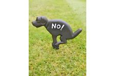 Perro de Hierro Fundido de ensuciamiento signo de perro con texto decir no! sin signo de ensuciamiento (saltado)