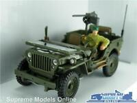 WILLYS JEEP CAR MODEL 1:43 ARMY MILITARY INC DRIVER GREEN OPEN USA AMERICAN R0